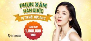COMBO GIẢM 30% PHUN XĂM HÀN QUỐC tại TMV Đông Á chỉ trong tháng 5