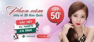 GIẢM TỚI 50% PHUN XĂM SIÊU VI 3D HÀN QUỐC tại TMV Đông Á