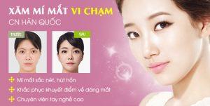 Phun xăm 3D siêu vi Hàn Quốc – Mí mắt sắc nét, đẹp hút hồn